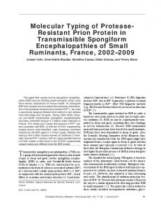 Molecular Typing of Protease- Resistant Prion Protein in ...