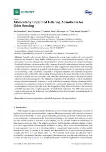 Molecularly Imprinted Filtering Adsorbents for Odor