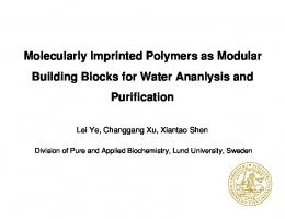 Molecularly Imprinted Polymers as Modular Building Blocks for ...
