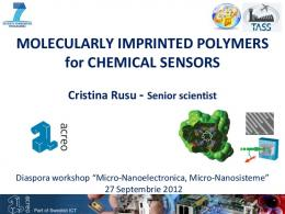 MOLECULARLY IMPRINTED POLYMERS for CHEMICAL SENSORS