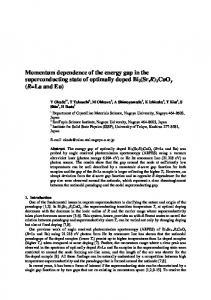 Momentum dependence of the energy gap in the