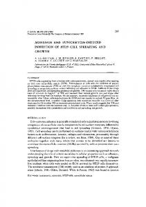 monensin and tunicamycin-induced inhibition of ht29 cell spreading ...
