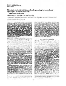 Monensin-induced inhibition of cell spreading in normal and ... - PNAS