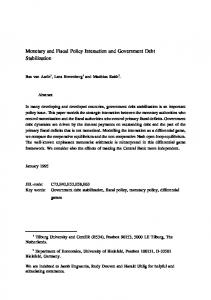 Monetary and Fiscal Policy Interaction and Government Debt ... - Core