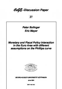 Monetary and Fiscal Policy Interaction in the ... - wwwuser - GWDG
