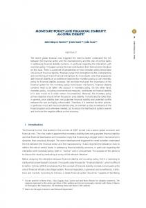 Monetary policy and financial stability: an open ... - Banco de Portugal