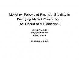 Monetary Policy and Financial Stability in Emerging ...