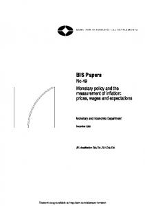 Monetary policy and the measurement of inflation: prices, wages and ...