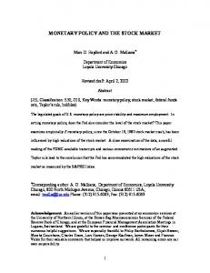 monetary policy and the stock market - CiteSeerX