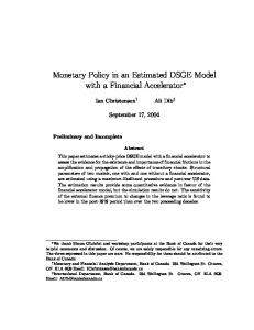Monetary Policy in an Estimated DSGE Model with a Financial ...