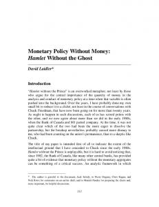 Monetary Policy Without Money: Hamlet Without ... - Semantic Scholar