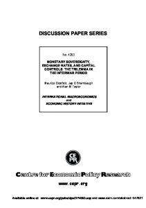 Monetary Sovereignty, Exchange Rates, and Capital Controls: The ...