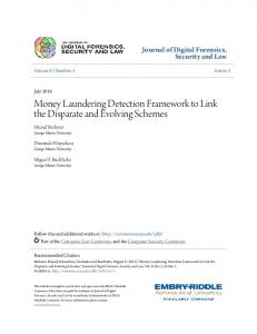 Money Laundering Detection Framework to Link the ...