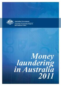 Money laundering in Australia 2011