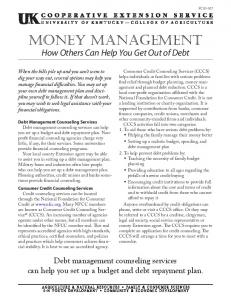 Money Management - How Others Can Help You Get Out of Debt
