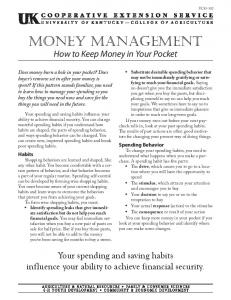 Money Management: How to Keep Money in Your Pocket