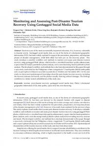 Monitoring and Assessing Post-Disaster Tourism Recovery ... - MDPI
