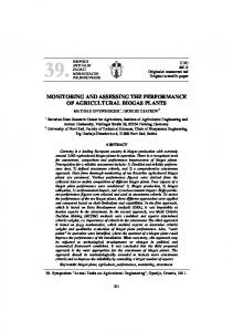 monitoring and assessing the performance of ...