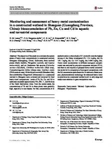 Monitoring and assessment of heavy metal
