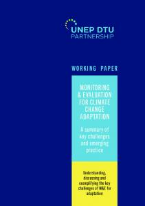 Monitoring and Evaluation for Climate Change Adaptation
