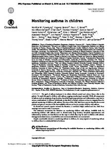 Monitoring asthma in children (PDF Download Available)