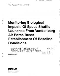Monitoring Biological Impacts Of Space Shuttle ...