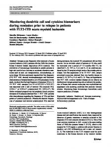 Monitoring dendritic cell and cytokine biomarkers ... - BioMedSearch
