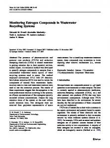 Monitoring Estrogen Compounds in Wastewater ... - Springer Link