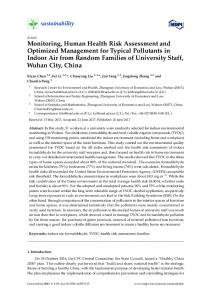 Monitoring, Human Health Risk Assessment and Optimized ... - MDPI