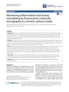 Monitoring inflammation and airway remodeling by fluorescence ...