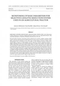 monitoring of basic parameters for selective catalytic reduction system ...