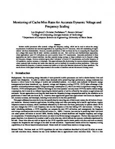 Monitoring of Cache Miss Rates for Accurate Dynamic Voltage and ...