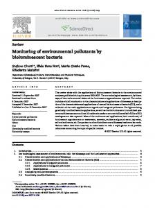 Monitoring of environmental pollutants by ...