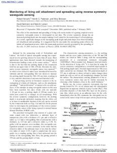 Monitoring of living cell attachment and spreading