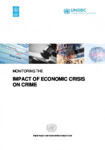Monitoring the impact of economic crisis on crime - United Nations ...