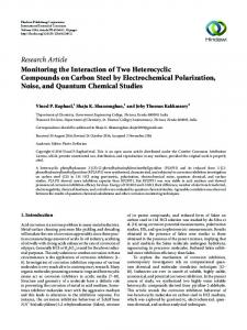 Monitoring the Interaction of Two Heterocyclic Compounds on Carbon ...