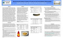 Monitoring the Sodium Content of Foods as the Food ... - USDA ARS