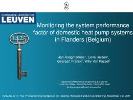 Monitoring the system performance factor of domestic