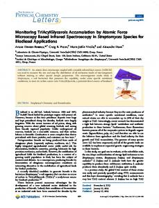 Monitoring TriAcylGlycerols Accumulation by Atomic Force Microscopy ...
