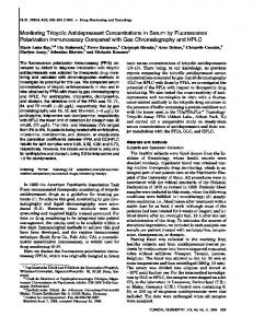 Monitoring Tricyclic Antidepressant Concentrations in Serum by ...