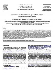 Monoamine oxidase inhibition by southern African traditional ...