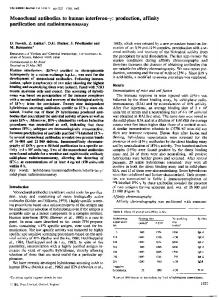 Monoclonal antibodies to human interferon-y: production, affinity - NCBI