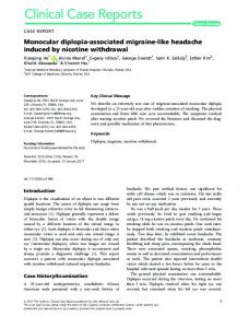 Monocular diplopia‐associated ... - Wiley Online Library