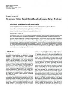 Monocular Vision-Based Robot Localization and Target Tracking