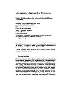 Monograph: Aggregation Functions