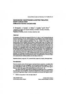 Monoionic montmorillonites treated with Congo-Red - Zaban Lab