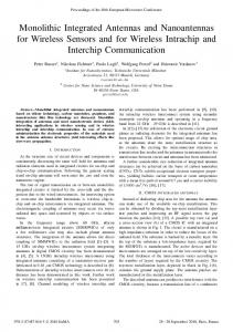 Monolithic Integrated Antennas and Nanoantennas for ... - IEEE Xplore