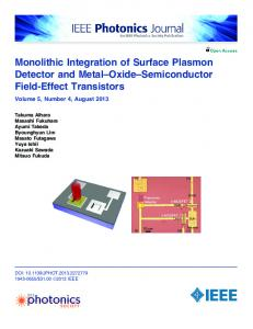 Monolithic Integration of Surface Plasmon Detector and ... - IEEE Xplore