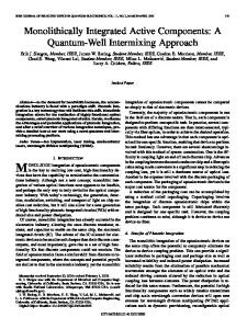 Monolithically Integrated Active Components: A ... - IEEE Xplore