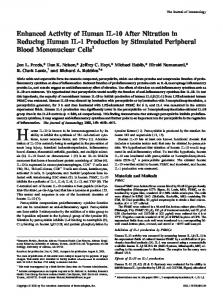 Mononuclear Cells Production by Stimulated Peripheral Blood ...